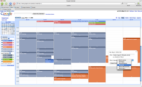 Google Calendar - Week view screenshot