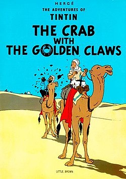 Tintin cover - The Crab with the Golden Claws is.jpg