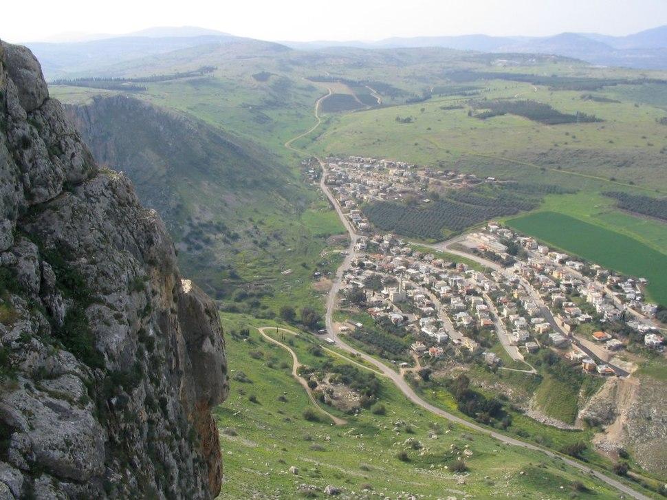 Wadi Hamam from Arbel Cliff