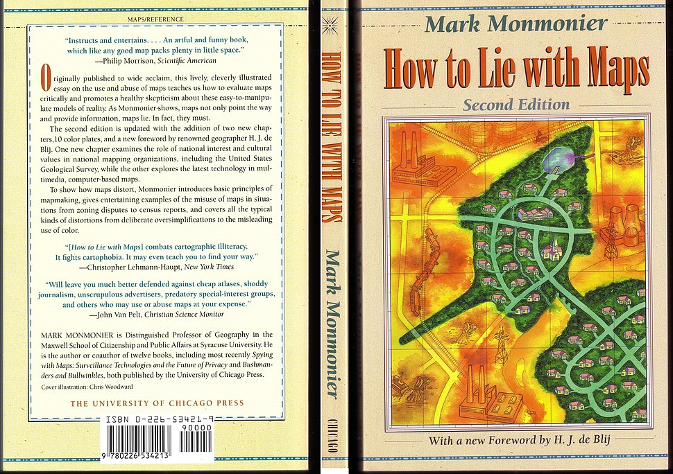 Book cover - How to Lie with Maps