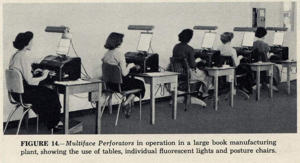 Teletypesetter operators
