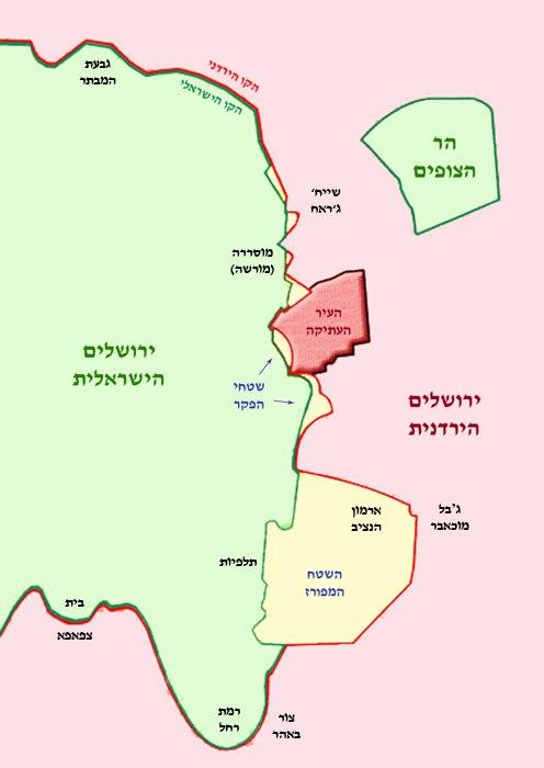 Split jerusalem map