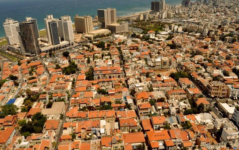מבט מלמעלה על השכונות שבזי ונווה צדק