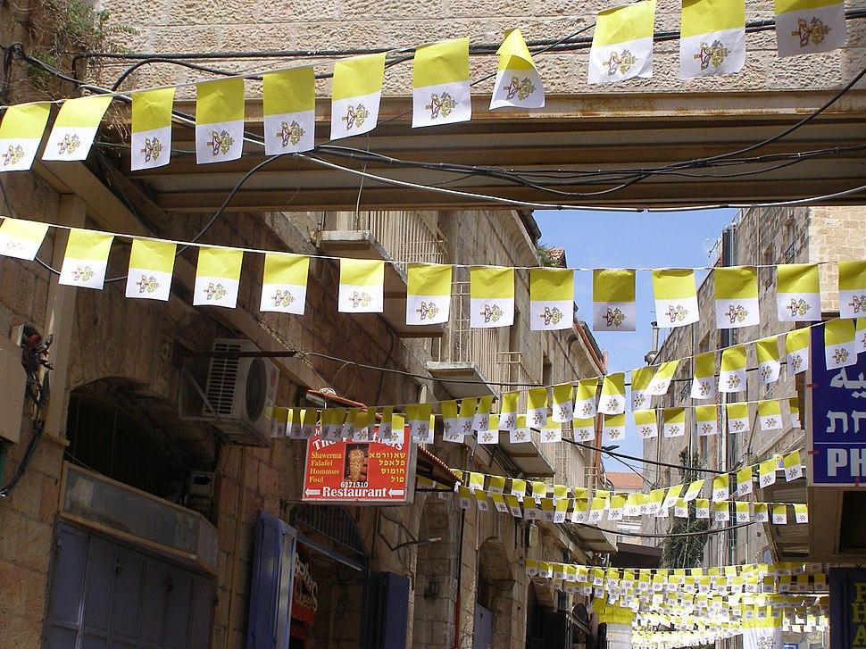 Vatican flags east jerusalem