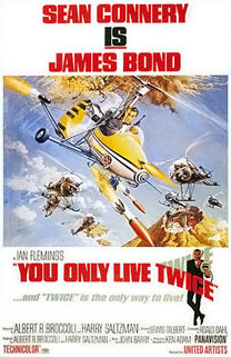 Poster showing small, open-cockpit helicopters flying in the sky