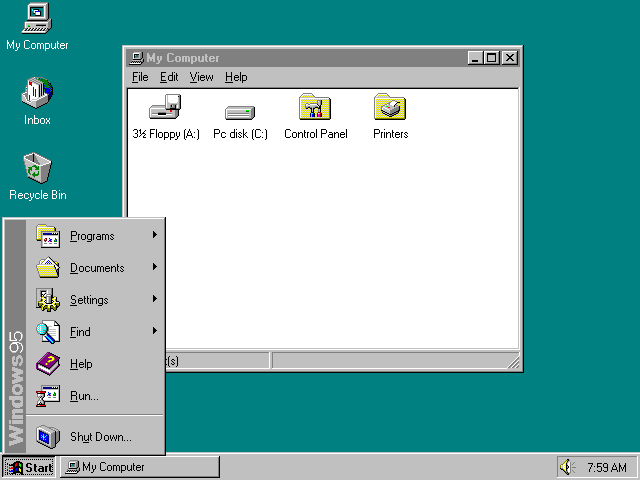 Windows 95 wikipedija for Classic house 1995