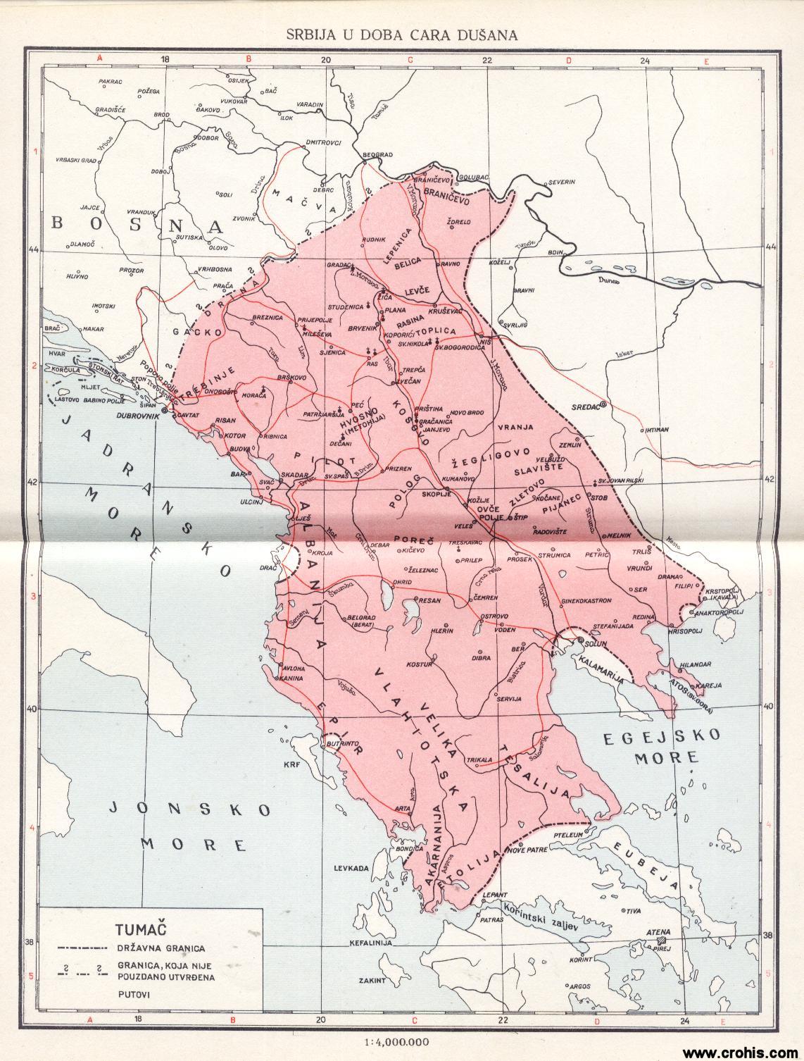 dusanovo carstvo mapa Datoteka:Dušanovo Carstvo. – Wikipedija dusanovo carstvo mapa
