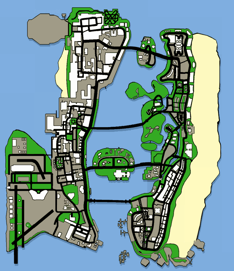 Vice City Map Properties Grand Theft Auto: Vice...