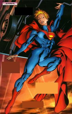 Body Paint Female Superman