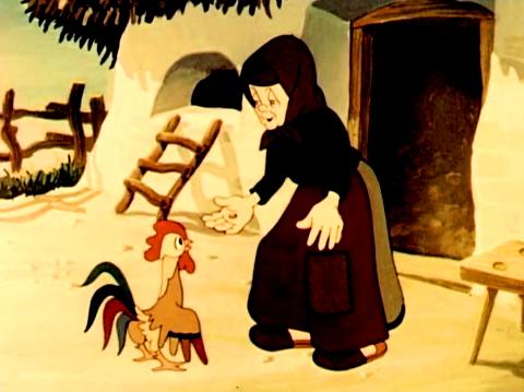 nagy fekete kakas animáció