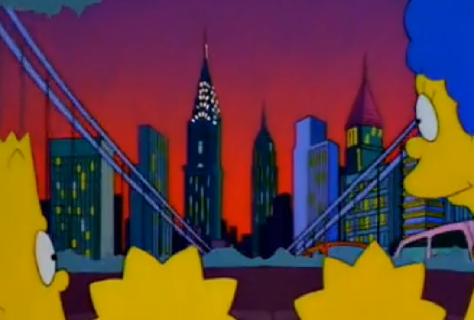 Az epizód végén a család visszatekint New York városára a George Washington hídról.