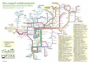 szekszárd helyijárat térkép Pécs tömegközlekedése – Wikipédia