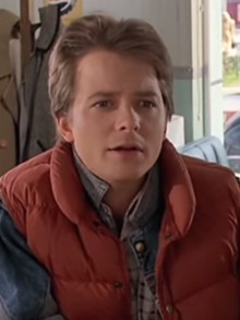 Michael J. Fox mint Marty McFly