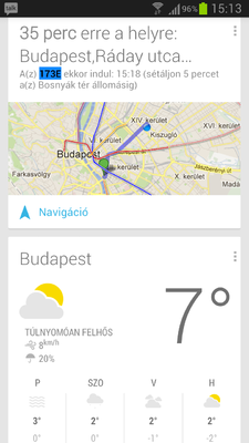 Google Now Samsung Galaxy S III-on