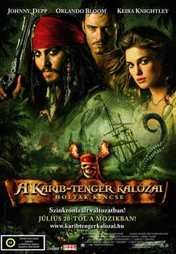 A Karib-tenger kalózai  Holtak kincse magyar nyelvű moziposztere IMDB 7 92e513d449