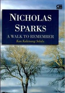 Sampul novel A Walk to Remember Terjemahan