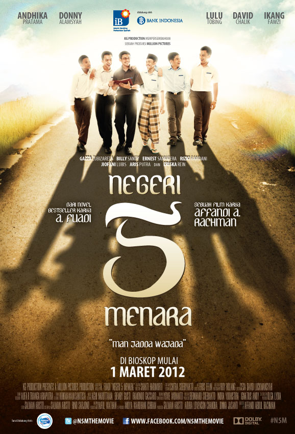 risky agus salim movies - Negeri 5 Menara