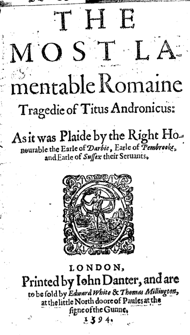 a close reading of titus andronicus After them, titus andronicus and then tamora, with alarbus, demetrius, chiron, aaron, and other goths, prisoners soldiers and people following the bearers set down the coffin, and titus speaks titus andronicus.