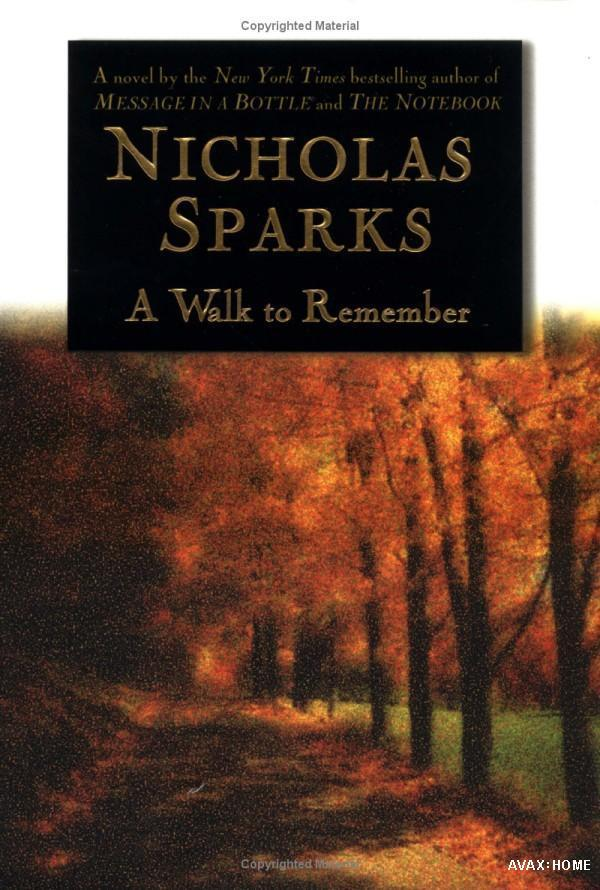 Book Cover Series Wiki : A walk to remember novel wikipedia bahasa indonesia