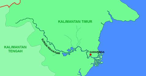 Peta Mahakam | wikimedia