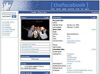 Profil The Facebook tahun 2005