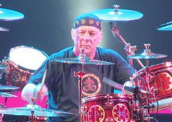 Neil Peart performing at the Air Canada Centre on October 16, 2012.jpg