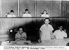 Rapat kedua KNIP yang diketuai oleh Sutan Syahrir pada tanggal 25-26