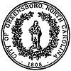 Lambang resmi Greensboro, North Carolina