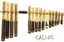 Image result for alat musik Calung