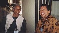 Muhammad Yunus dan Onno W. Purbo, Harvard 09/2003