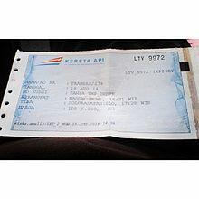Tiket Kereta Api Wikipedia Bahasa Indonesia Ensiklopedia Bebas