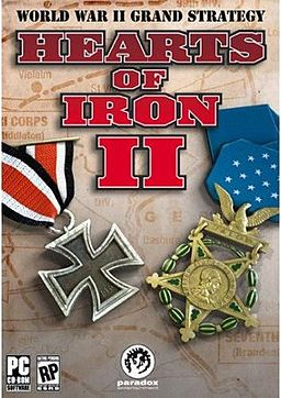 Box art for Hearts of Iron 2