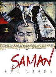 Sampul Saman , dari lukisan Dia Seperti Sedang Menuliskan Sesuatu ...