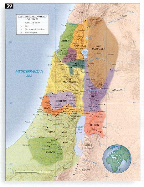 Baitullah di jaman nabi2 yahudi - Page 6 460px-IsraelTribalAllotments