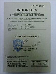 Surat Izin Mengemudi Internasional Wikipedia Bahasa Indonesia