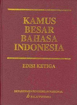Kamus Besar Bahasa Indonesia Edisi Ke-3 Tahun 2005