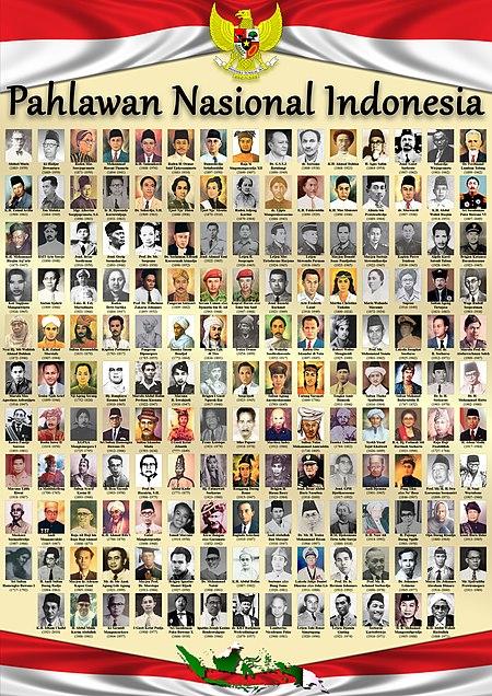 Daftar pahlawan nasional Indonesia