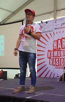 Asep Kambali saat Hari Komunitas Nasional 2015.jpg