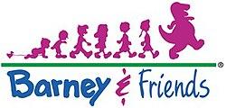 Logo barney &; friends