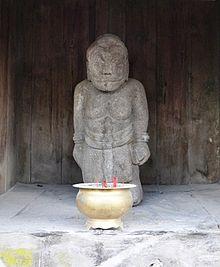Patung penggambaran Sabdapalon di Candi Ceto .