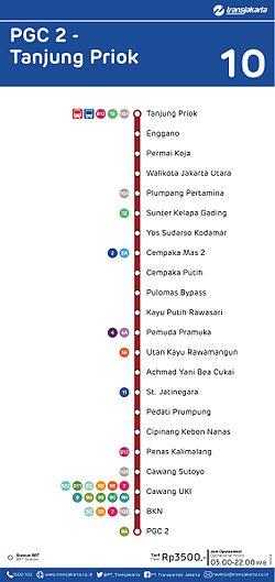 Koridor 10 Transjakarta Wikipedia Bahasa Indonesia Ensiklopedia Bebas