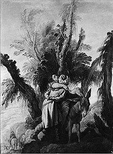 """Orang Samaria yang murah hati"""", karya Domenico Fetti , ca. 1618–22"""