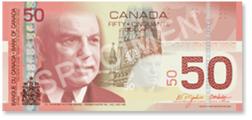 Uang kertas 50 dolar kanada iso 4217 cad negara kanada tidak resmi