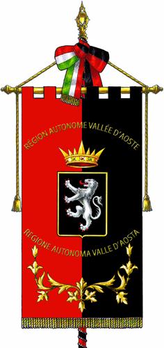 """Regione-Valle d'Aosta-Gonfalone"". Con licenza Copyrighted tramite Wikipedia."