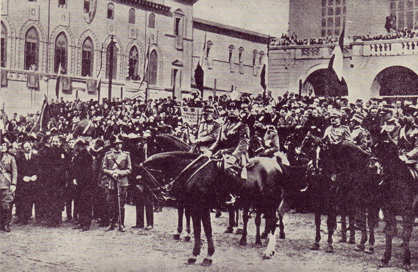 Bologna 31 ottobre 1926 Mussolini poco prima dell attentato di Zamboni