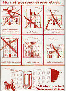 Una pagina della La difesa della razza del 1938 con le disposizioni antisemite