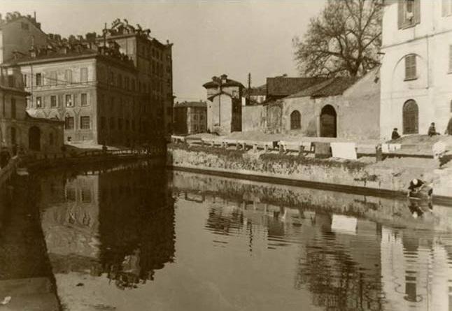 File Via Conca Del Naviglio A Milano 1910 Jpg Wikipedia