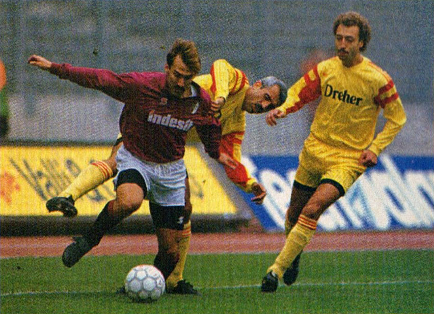 Alejnikov al Lecce nel 1990
