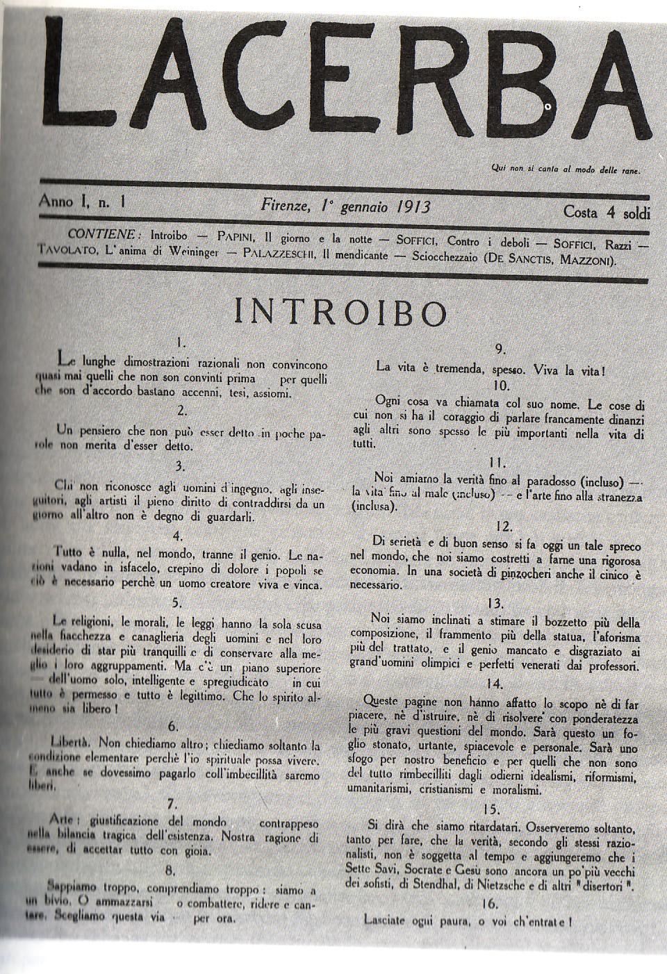 Lacerba wikipedia for Riviste di architettura italiane