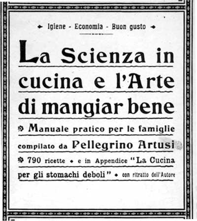 Il Manuale dell'Artusi'frontespiece, in a 1910 edition